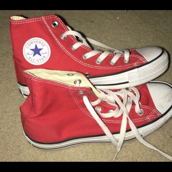 c1a3e40c5088 Converse Other - Red Converse - kids size 4 or fits women size 6